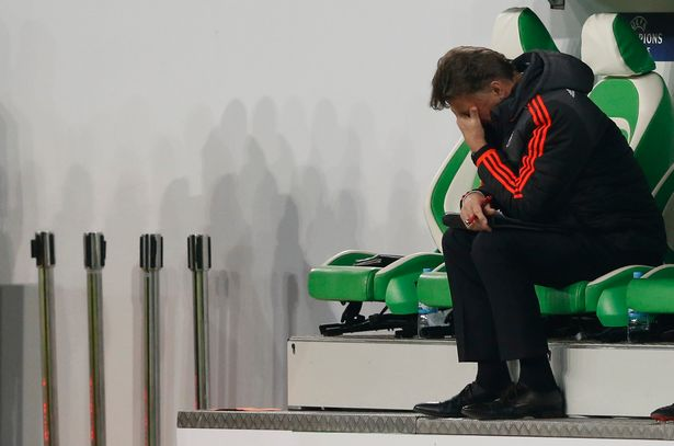 Week to forget: Van Gaal can't watch as United lose to Wolfsburg