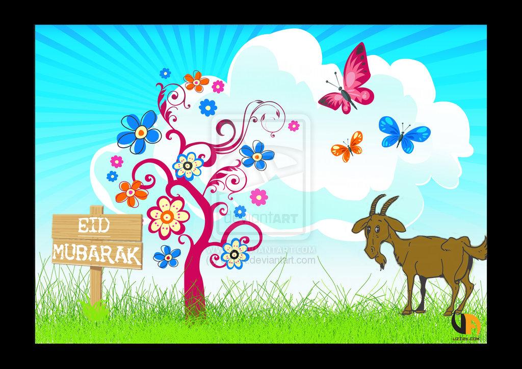 Islamic cultural and religios festivals ramzan eid al fitr eid bakra eid mubarak cartoonic cards m4hsunfo