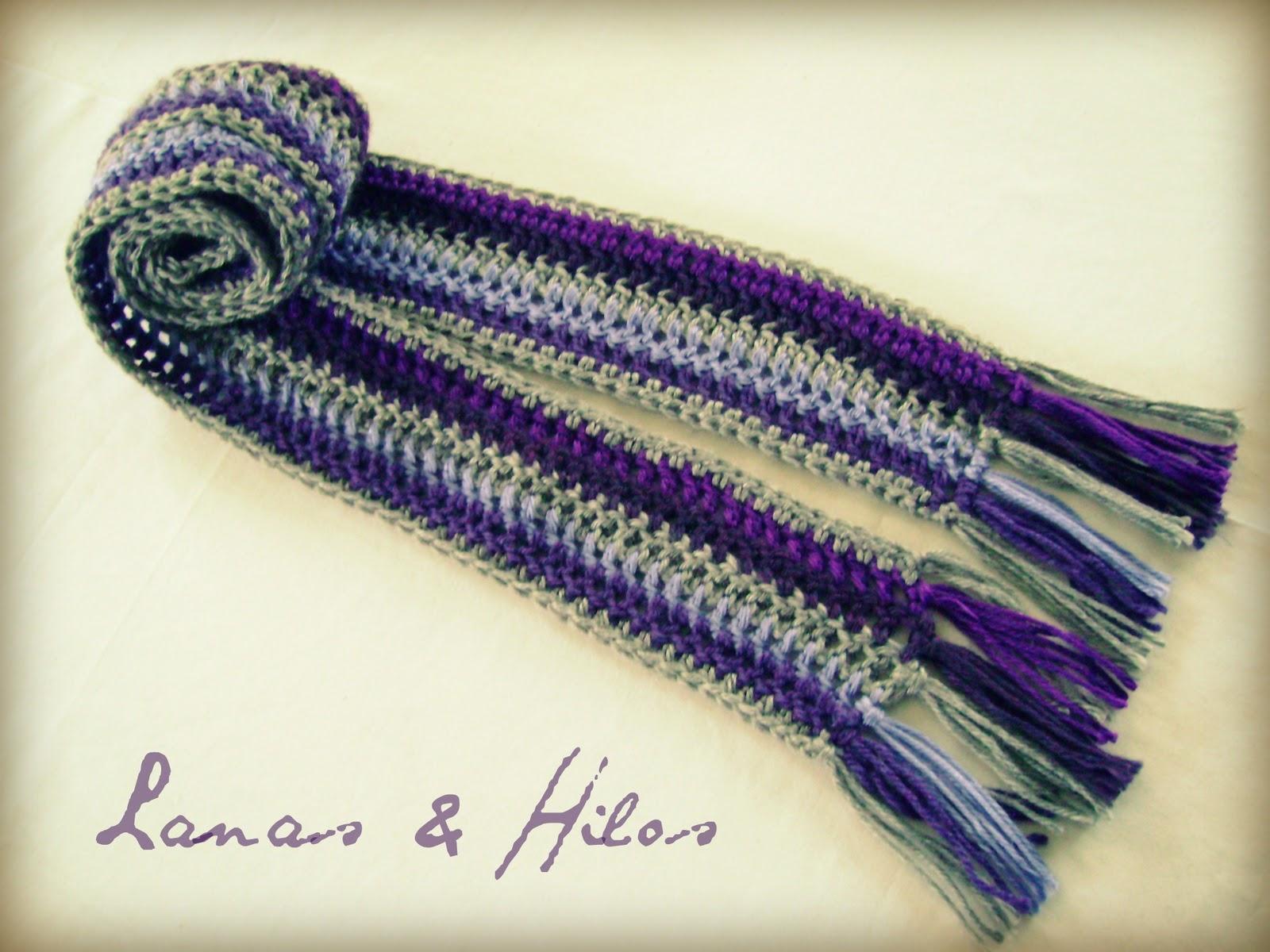 Crochet Scarf Pattern Vertical Stripes : Lanas Hilos: My Patterns