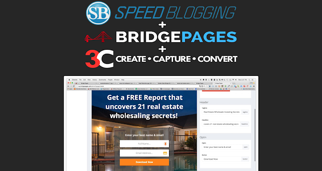 Speedblogging,learntoblog,landingpages