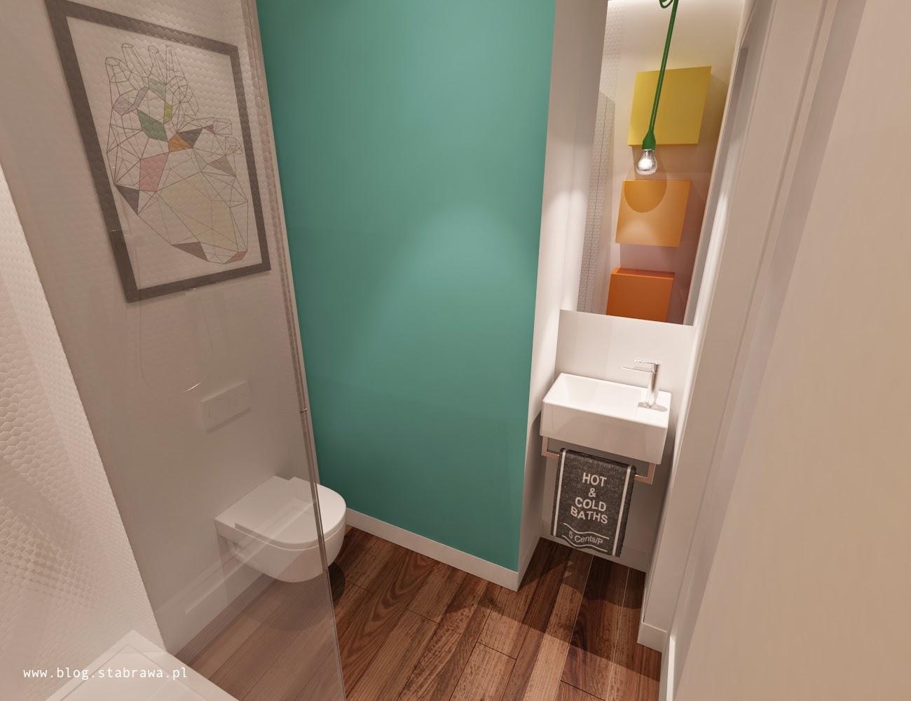 łazienka nowoczesna, żywica grzejnik dekoracyjny kolor, mozaika