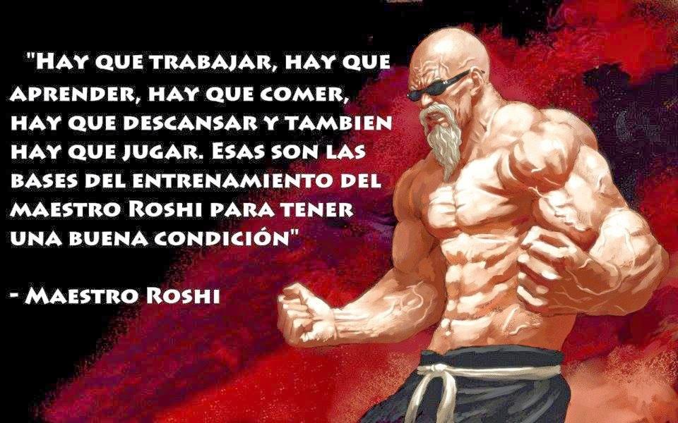 Sabías palabras Maestro Roshi