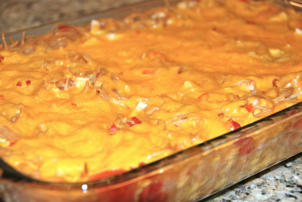 Copper Lantern Cooking: CHEESY CHICKEN SPAGHETTI BAKE