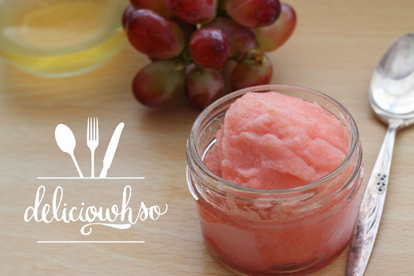 DELICI-OWH-SO: Moscato and Red Grape Sorbet