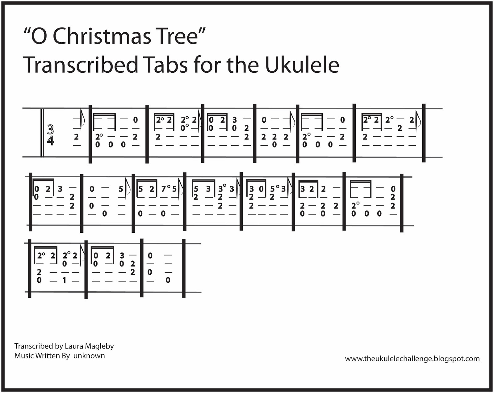 The Ukulele Challenge: O Christmas Tree