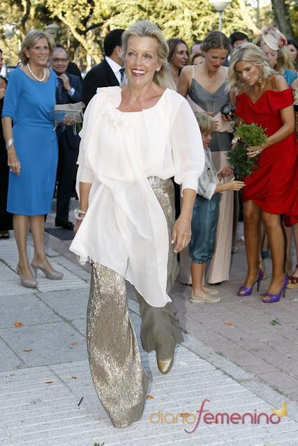 Teresa Galan, madre de Leticia Calderon en la boda de su hija