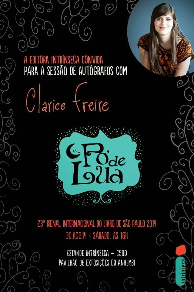 Sessão de Autógrafos com Clarice Freire, autora de Pó de Lua