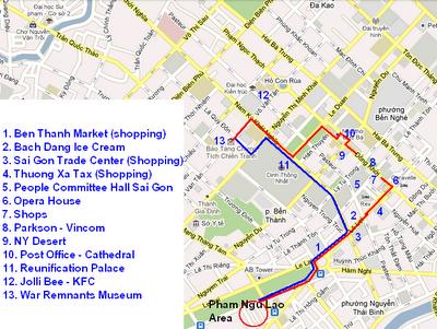 Minh Khai Map Thi Minh Khai Street Nam