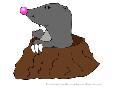 funny cartoon mole clip art for teaching english