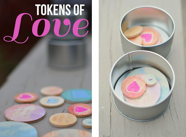 Hug Tins and Tokens for Moms and Kids Craft Idea