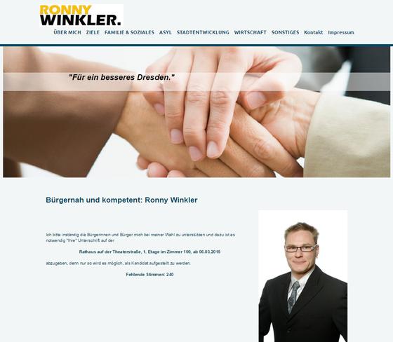 Screenshot Internet-Auftritt OB-Kandidat Winkler