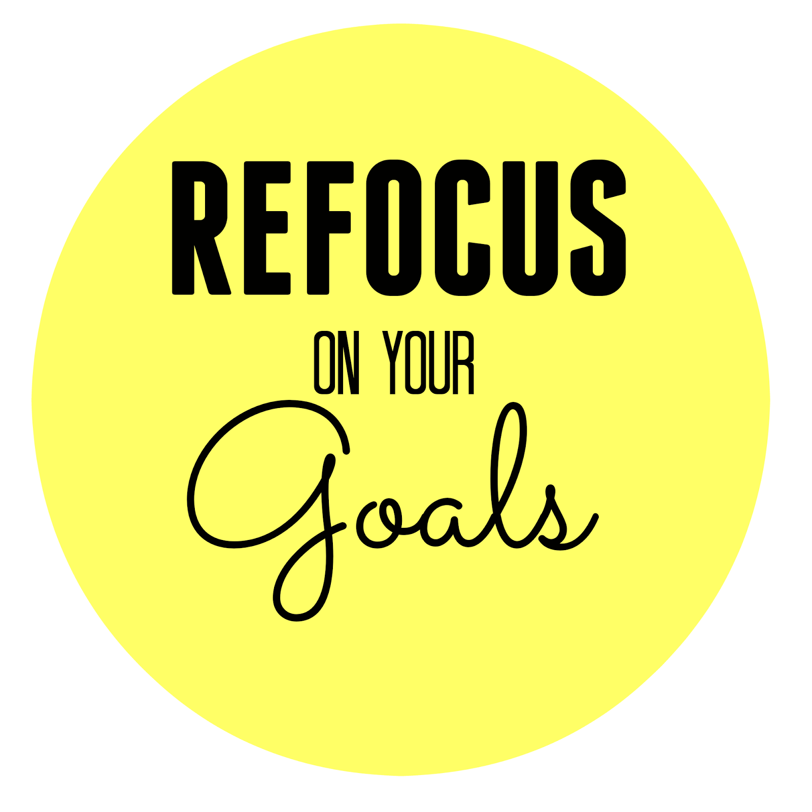 Running On Life: Refocus on your Goals
