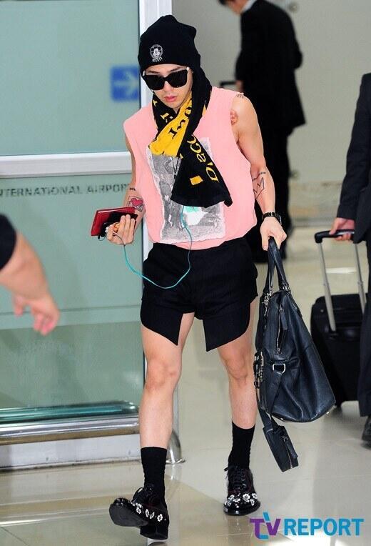 ... : Fashion DON'T: G-Dragon's Japan To Korea Airport Style 130619