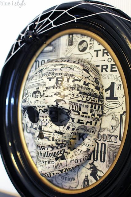 3D skull framed for Halloween