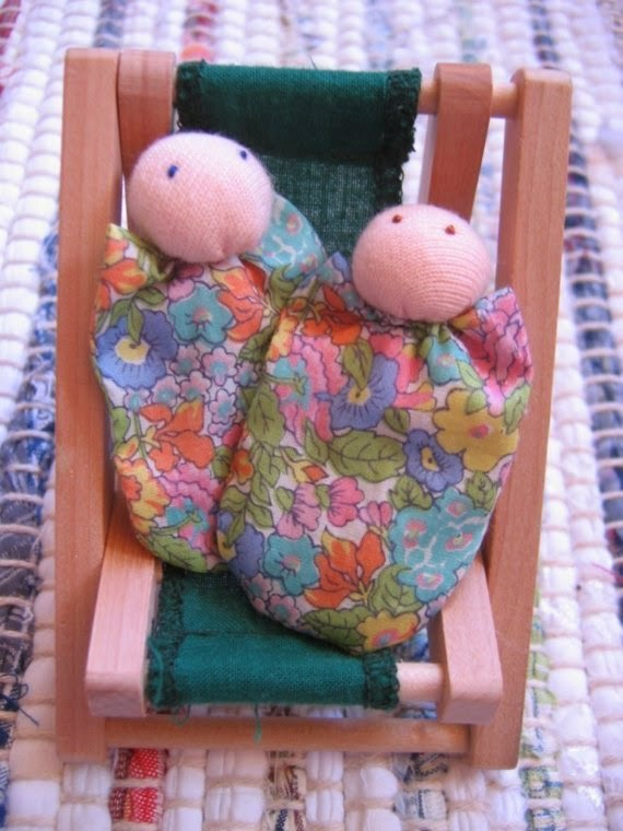 mini waldorf twin dolls by LoveaLittle