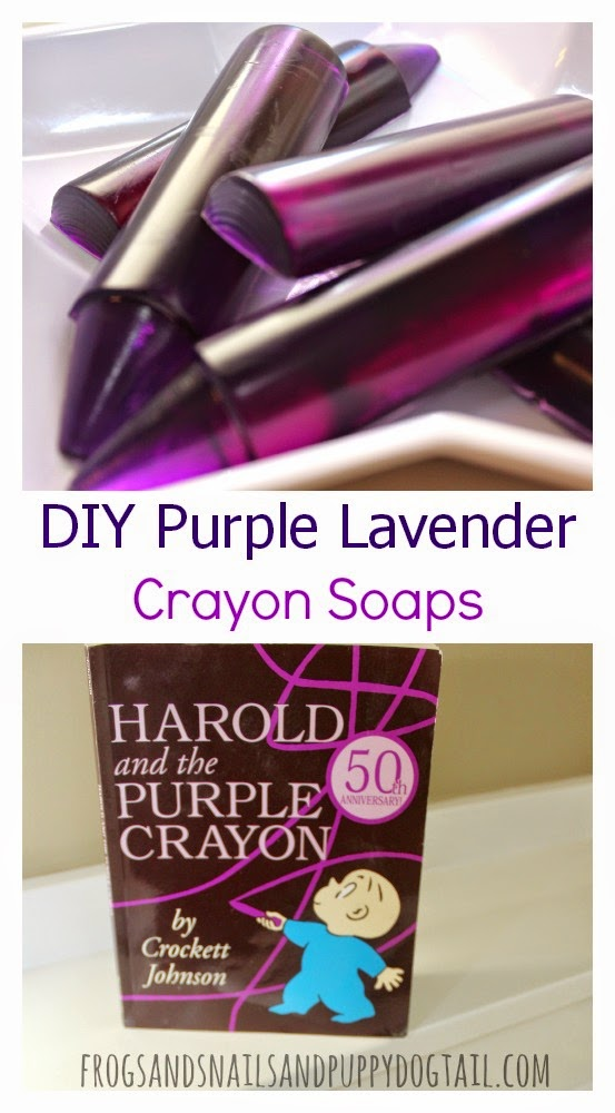 Purple Lavender Crayon Soaps for Harold and the Purple Crayon