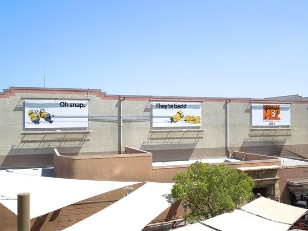 Despicable Me 2 special billboard installation Universal Studios