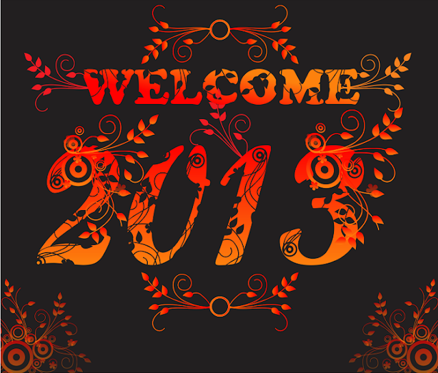 download vektor Welcome new year 2013