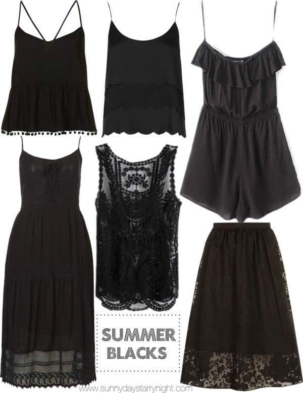 black pieces for summer