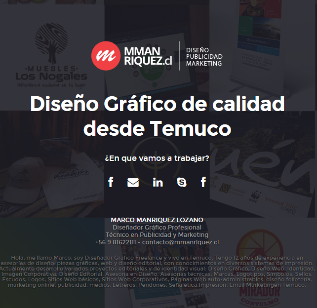 mmanriquez.cl / Diseño Gráfico, Publicidad & Medios