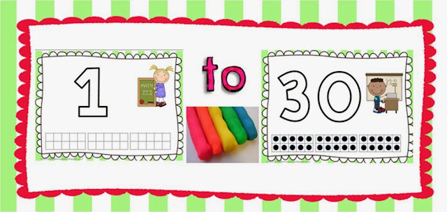 http://www.teacherspayteachers.com/Product/A-Play-Dough-Mat-Center-Bundle-Numbers-1-30-982360