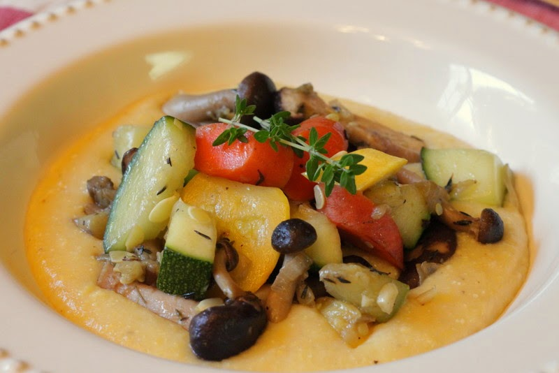 Sauteed Vegetables with Polenta