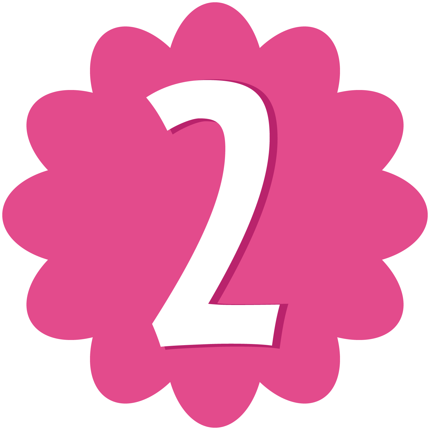 Number 2 Clipa   Number 2 Clipart Purple