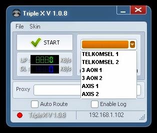 Inject Telkomsel Tri Axis Triple X V 1.0.8 09 Agustus 2014
