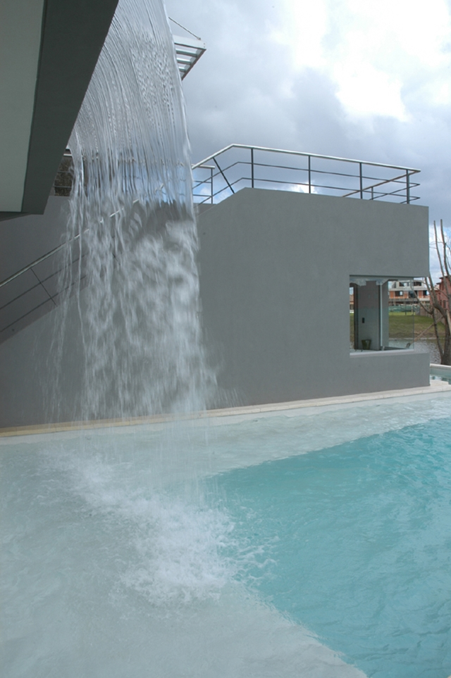 Waterfall on the modern home