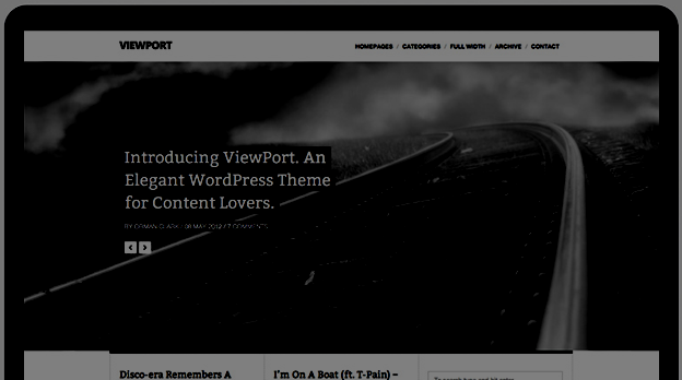 Responsive WordPress Theme No.3-Viewport