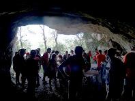 Des de l'interior de la Bauma de Vilarjoan