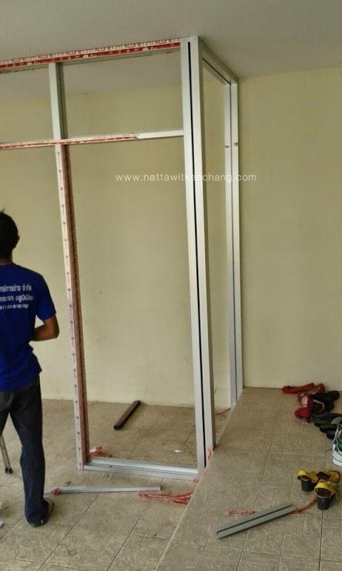 Service | งานกั้นห้องอลูมิเนียม  บ้านลูกค้า แถวชลบุรี