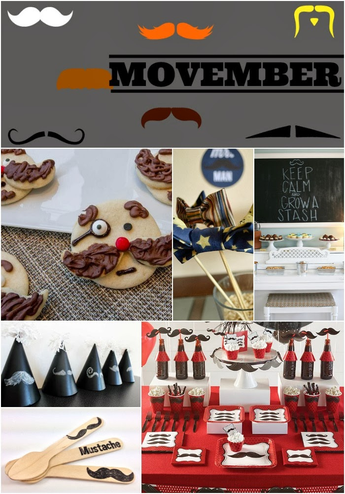 Movember Mustache Party Inspiration Board