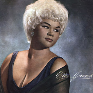 Etta James album cover with close up of ms James