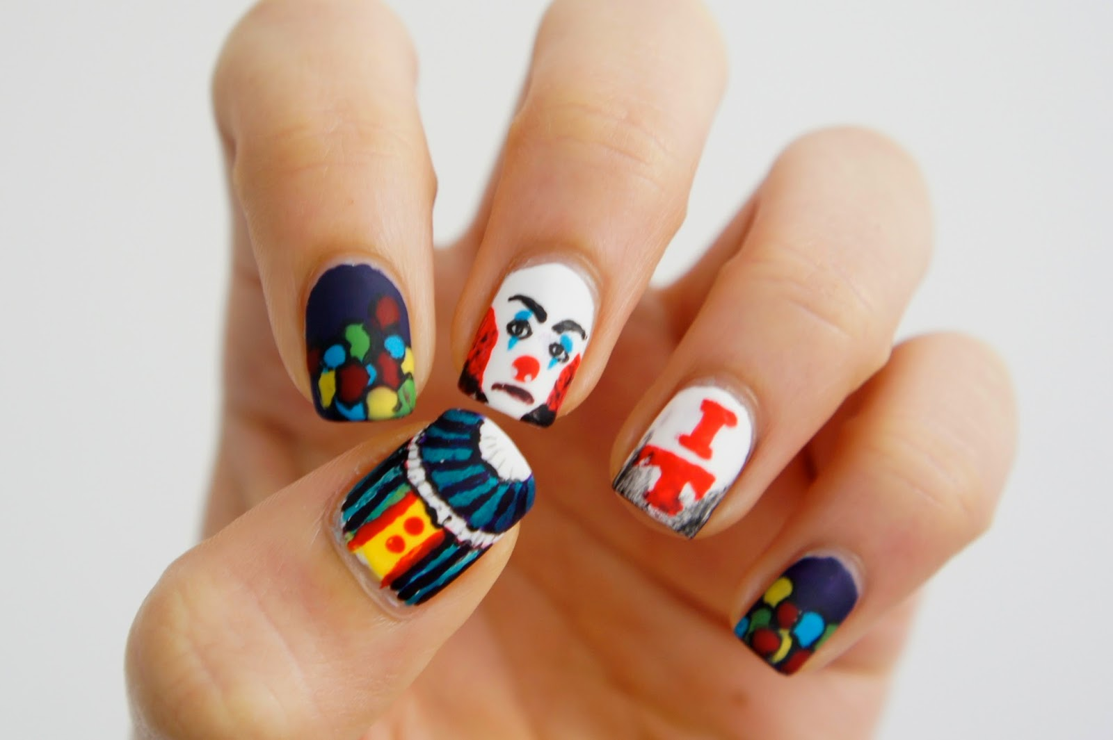 Pennywise, Creepy Clown Nail Art