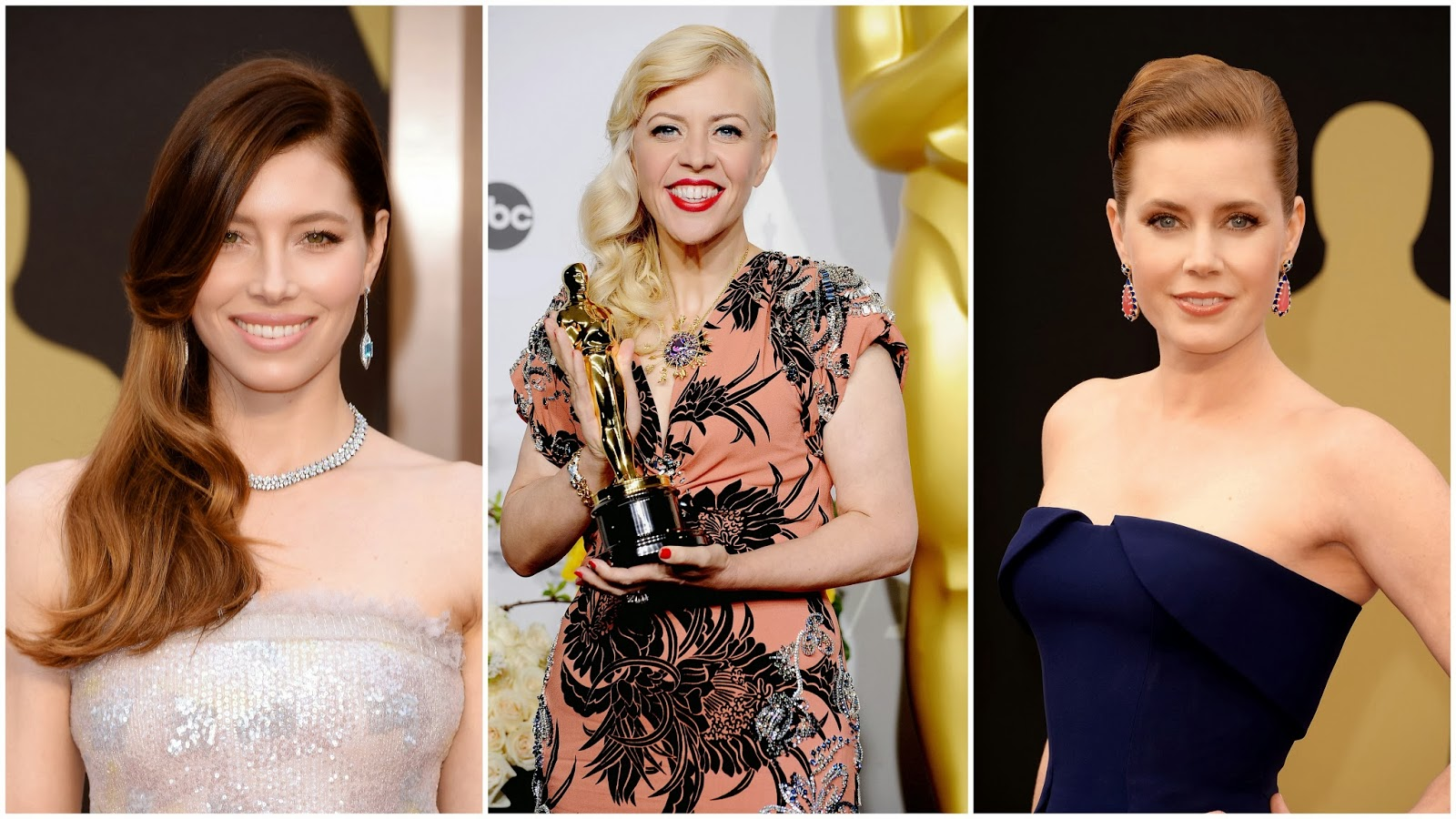 Tiffany jewels sparkled with legendary beauty on Amy Adams and Jessica Biel at the Academy Awards