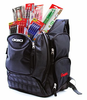 BACK TO SCHOOL PENTEL STUFFED BACKPACK GIVEAWAY