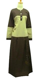 Gamis ZNB-04 Krem-Cokelat Size XL