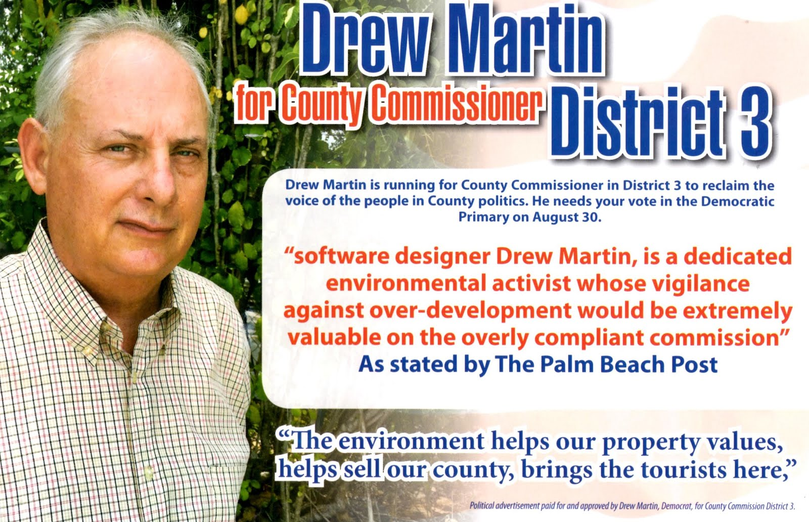 Drew Martin for mayor of Lake Worth? Stop laughing. He could win.