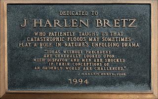 J Harlen Bretz marker at Dry Falls State Park