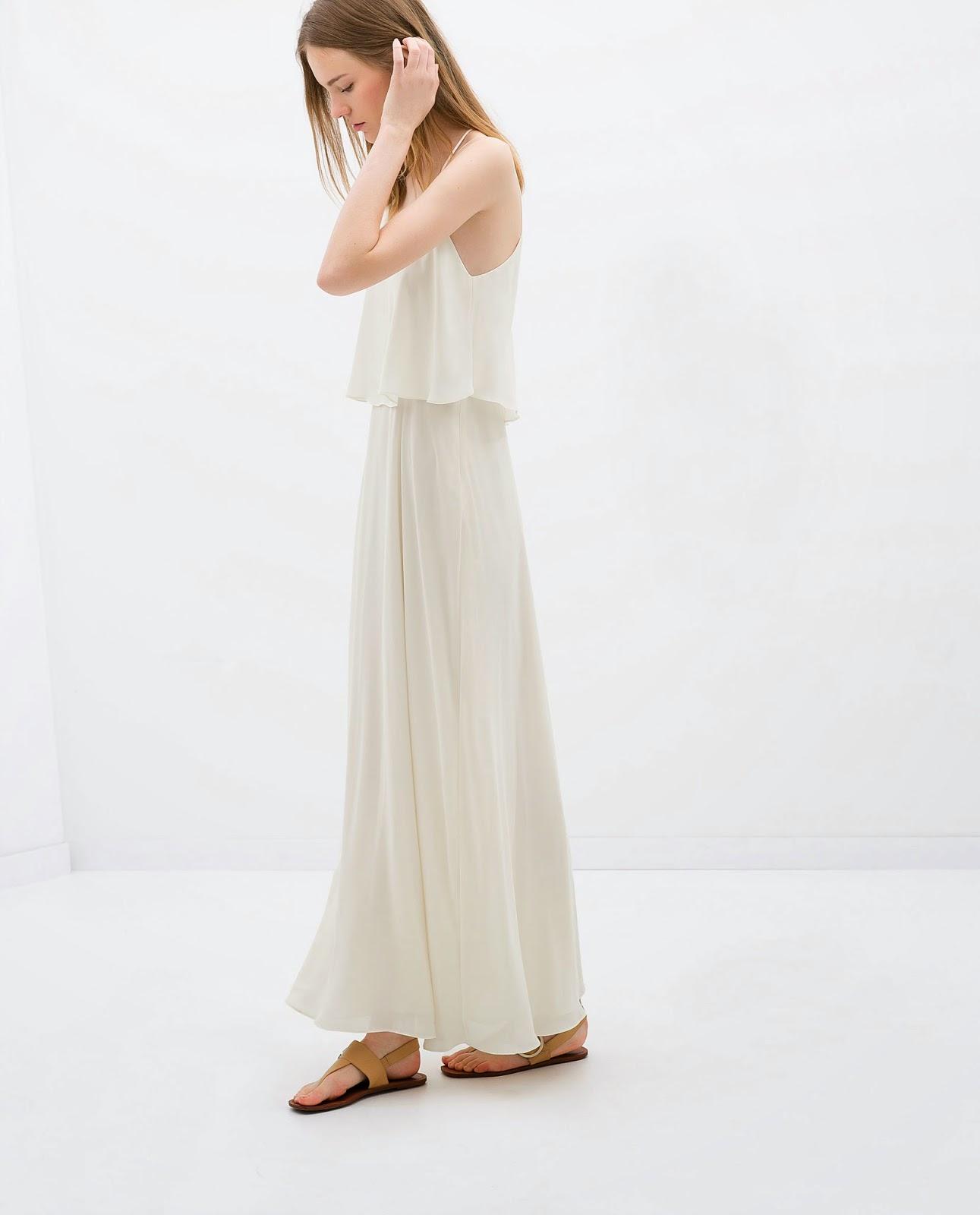 zara cream maxi dress
