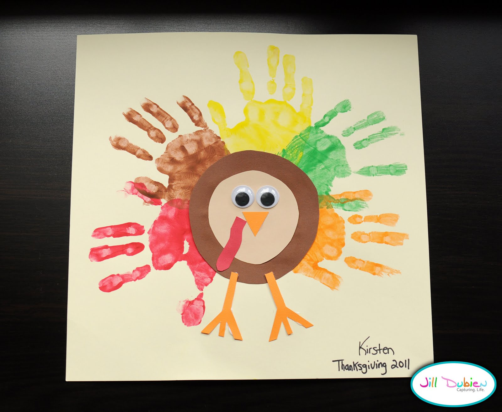 Preschool crafts for kids thanksgiving rainbow handprint for Thanksgiving turkey arts and crafts