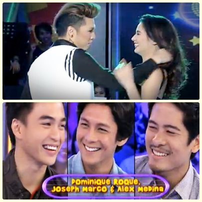 Karylle on GGV (June 30) with Dominic Roque, Joseph Marco and Alex Medina