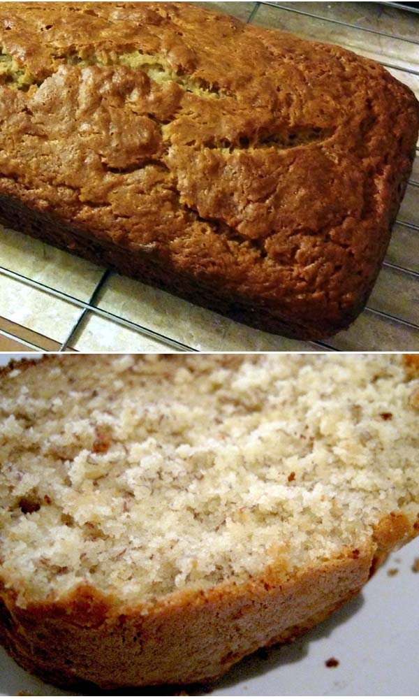 Easy Banana Bread. Yogurt can be substituted for buttermilk. But the rest of the ingredients are simple. You'll just need flour, baking soda, salt, ripe bananas, brown sugar, butter, eggs and vanilla extract.