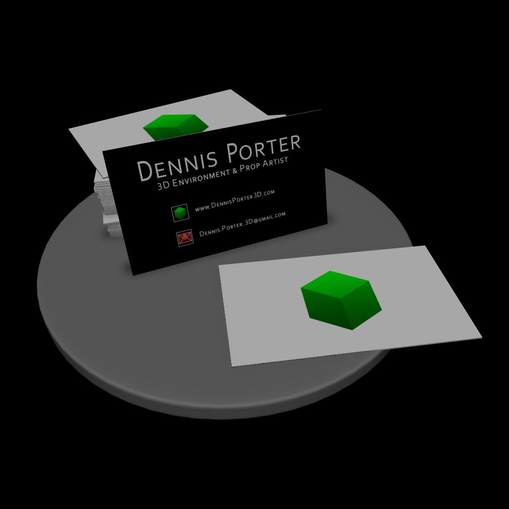 Dennis Porter - Game Art Blog: Business Card Mockup