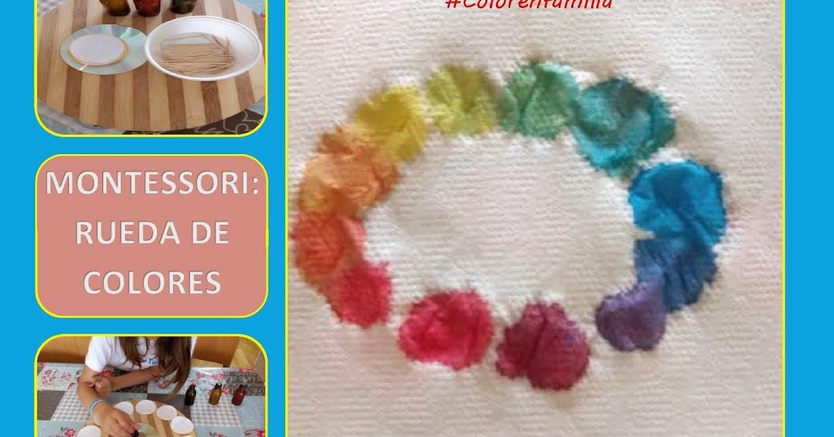 Color en familia montessori actividades de arte y - Rueda de colores ...