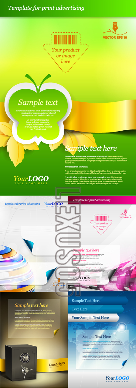 Advertising posters templates free