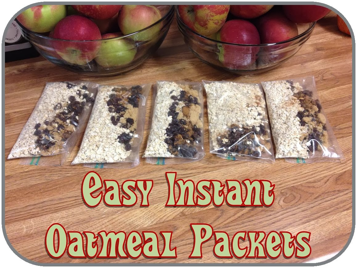Homemade instant oatmeal packets (7 Weight Watchers PP per packet)