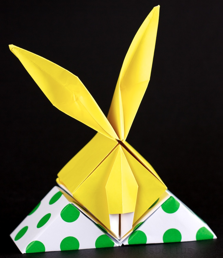 easter bunny box new origami model origami artis
