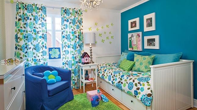 Chambre en orange et bleu turquoise ~ Solutions pour la décoration ...